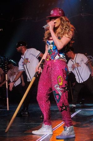 Jennifer Lopez à Las Vegas.