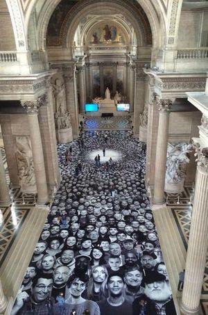 Le sol du Panthéon.