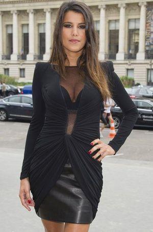 Karine Ferri en septembre dernier, avant un défilé de mode. Elle est jugée comme l'animatrice la plus sexy du Paf.