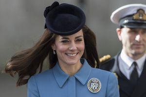 La duchesse de Cambridge, née Kate Middleton, au 75e anniversaire des Cadets de l'Air, le dimanche 7 février 2016.