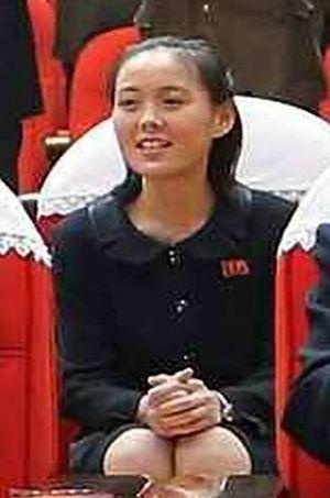 Kim Yo-jung, la soeur de Kim Jong-un, photographiée le 22 mars 2014 lors d'un événement officiel à Pyongyang.