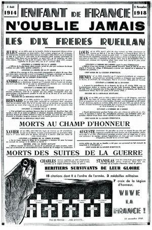 L'affiche placardée en 1938 dans toutes les écoles de France.