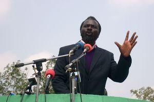 L'ancien leader rebelle Frédéric Bintsamou, alias pasteur Ntumi, en juin 2008 à Kinkala