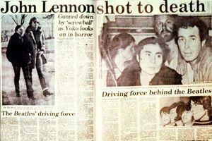 """La Une du """"New York Post"""" au lendemain de la mort de John Lennon."""