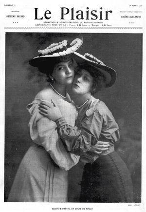 Les courtisanes Suzanne Derval et Liane de Pougy, deux people à la Belle Epoque.