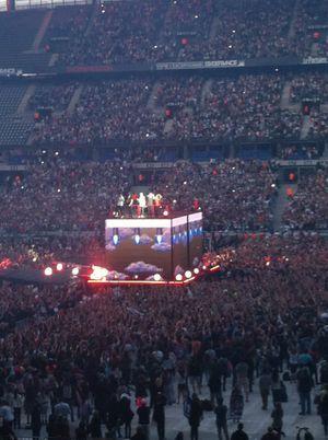 Les One Direction devant leurs fans