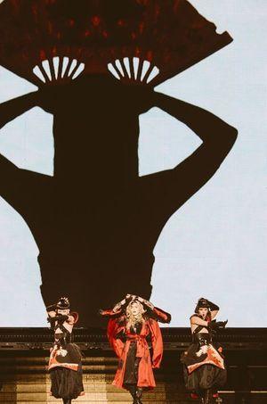 Madonna sur scène
