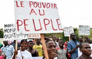 Manifestation le 28 octobre en Cote d'Ivoire contre le projet de modification de la constitution qui renforce drastiquement les pouvoirs présidentiels