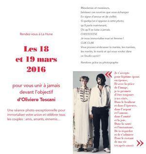 L'invitation aux unions d'Oliviero Toscani.