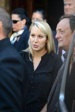 Marion Maréchal-Le Pen le 12 septembre 2014, à l'enterrement de Roger Auque.