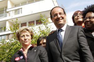 Maud Olivier aux côtés de François Hollande en avril 2012.