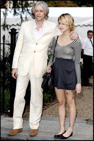 Sir Bob Geldof et Peaches à Londres en juillet 2009.