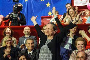 Pervenche Berès jeudi dernier, pour le lancement de la campagne européenne du Parti socialiste.
