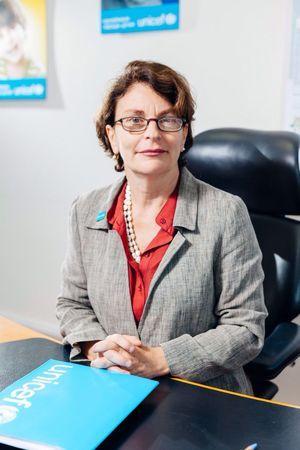 Giovanna Barberis, représentante de l'UNICEF en Ukraine