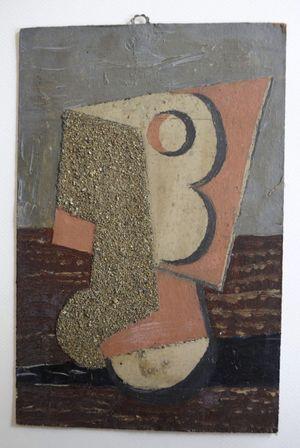 """""""Nature morte, verre et sable"""", par Pablo Picasso."""
