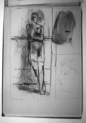 """Un dessin du carnet """"Monte Carlo"""" de Pablo Picasso."""