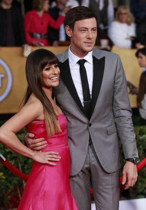 Lea Michel et Cory Monteith en janvier 2013.