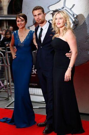 Avant-première à Londres de «Divergente» avec Theo James et Kate Winslet.