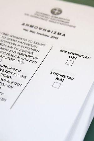 Le bulletin de vote de dimanche. Que choisiront la majorité des Grecs ?