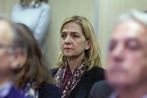 L'infante Cristina d'Espagne lors du premier jour d'audience de son procès à Palma de Majorque, le 11 janvier 2016