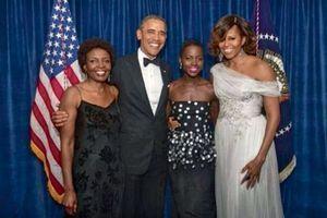 Le 4 mai 2014, avec Barack Obama lors du dîner officiel à la Maison Blanche.