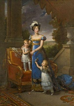 Avec son cher époux le duc de Berry, elle aura deux enfants.