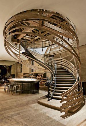 L'escalier de la brassserie, prouesse technique et artistique