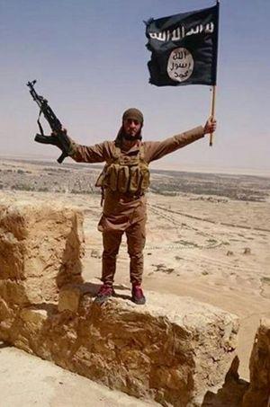 Sur les remparts de Palmyre, transformés en QG par l'EI.