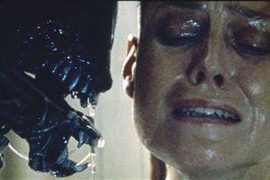 "Sigourney dans ""Alien 3"" en 1992."