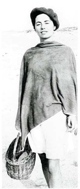 A Hossegor, Anne, jeune fille, prise en photo par François.