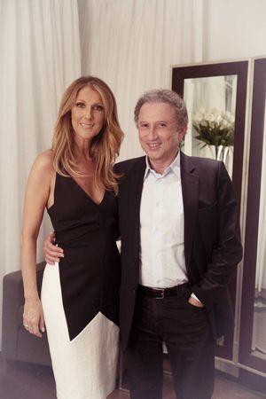 Avec Michel Drucker, dans sa loge au Caesars Palace, le 26 juin 2013.