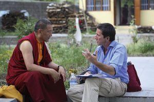 Stéphane Allix en reportage en Inde.