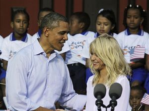 Shakira et Barack Obama à Carthagène en avril 2012.