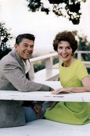 Le couple Reagan dans les années 80.