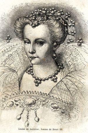 La reine Louise de Lorraine, telle que figurée sur une gravure du XIXe siècle