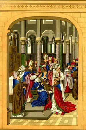 Charles V couronné, miniature peinte en 1886