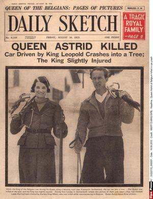 La mort de la reine des Belges Astrid fait la une de tous les journaux