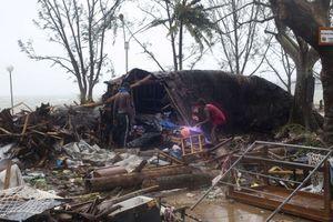 Quelques minutes après le passage du cyclone Pam.
