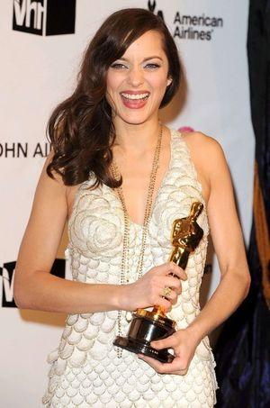 Marion Cotillard, triomphante lors de sa victoire aux Oscars 2008