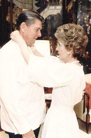Ronald et Nancy en 1983.