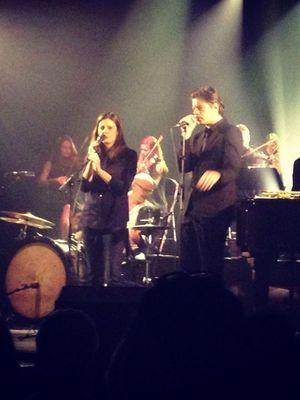 Sur scène avec Chiara Mastroianni