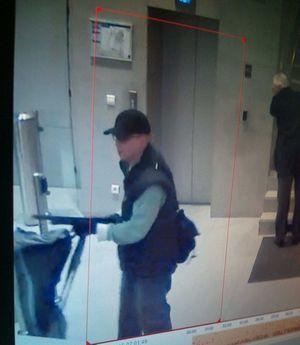 Le suspect dans les locaux de BFM TV