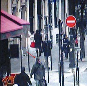 Le suspect après l'attaque de Libération