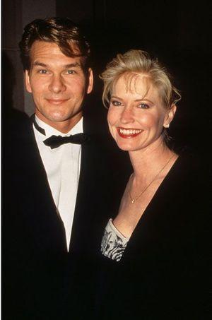 Lisa Niemi et Patrick Swayze en 1996.