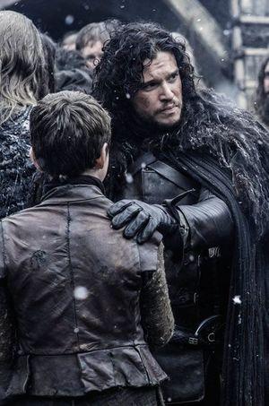 "Kit Harington alias Jon Snow dans ""Game of Thrones"""