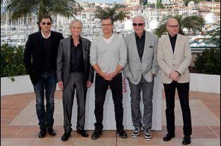 Richard LaGravenese, Michael Douglas, Matt Damon, le producteur Jerry Weintraub et Steven Soderbergh