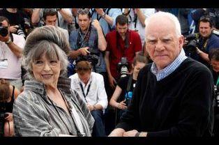 Christiane Kubrick et Malcolm McDowell