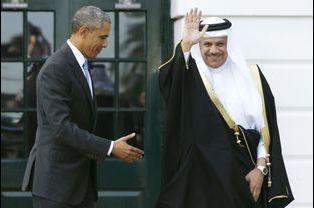 Barack Obama rate le Bahreïni Abdul Latif bin Rashid Al Zayani (mai 2015)