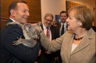 Avec Angela Merkel
