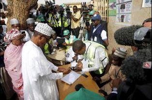 Le candidat Muhammadu Buhari